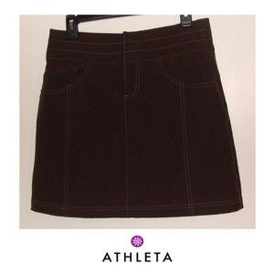 ✅Athleta brown skort skirt size 6 tennis active